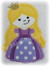 Applikation Prinzessin lila