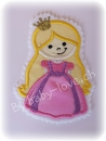 Applikation Prinzessin rosa